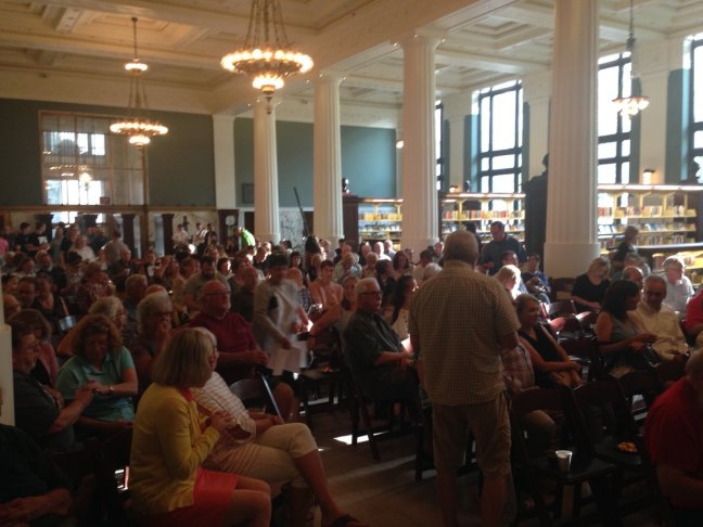 KCPL library crowd