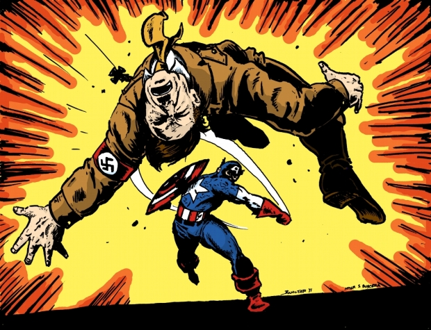 Cap punches Hitler color.jpg